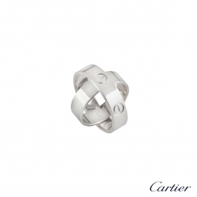 Cartier White Gold Spicy Love Ring Size 54